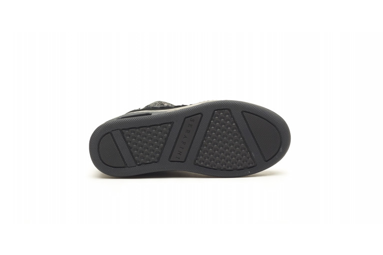 MOON CUT LOW - WIDE PLATED BLACK SUEDE View 4