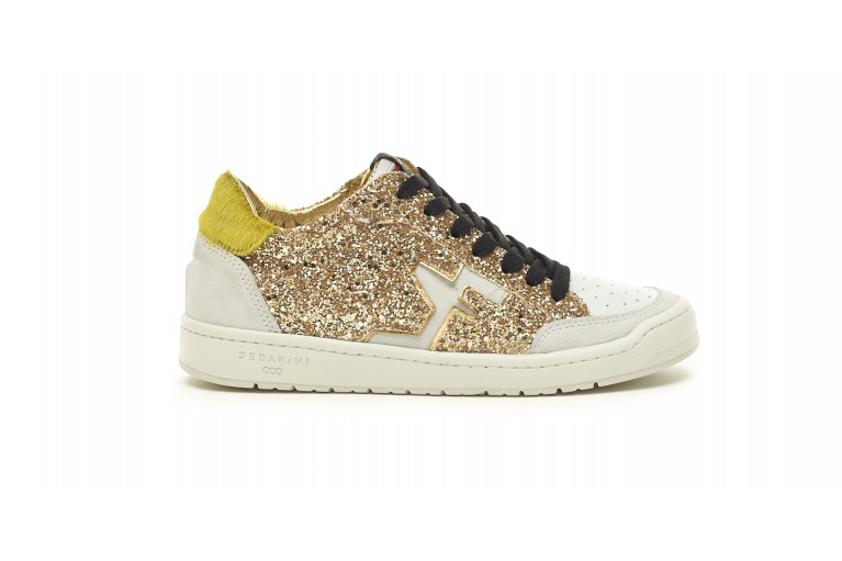 SAN DIEGO LOW  - WHITE & GLITTER GOLD View 1