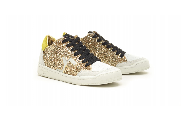 SAN DIEGO LOW  - WHITE & GLITTER GOLD View 2