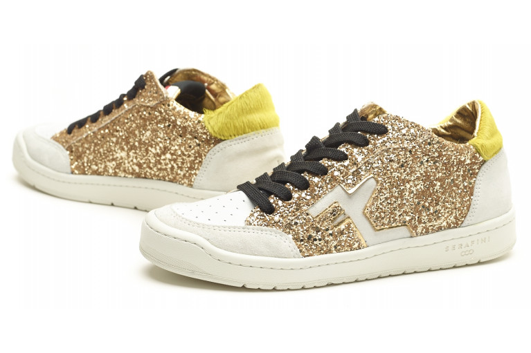 SAN DIEGO LOW  - WHITE & GLITTER GOLD View 5