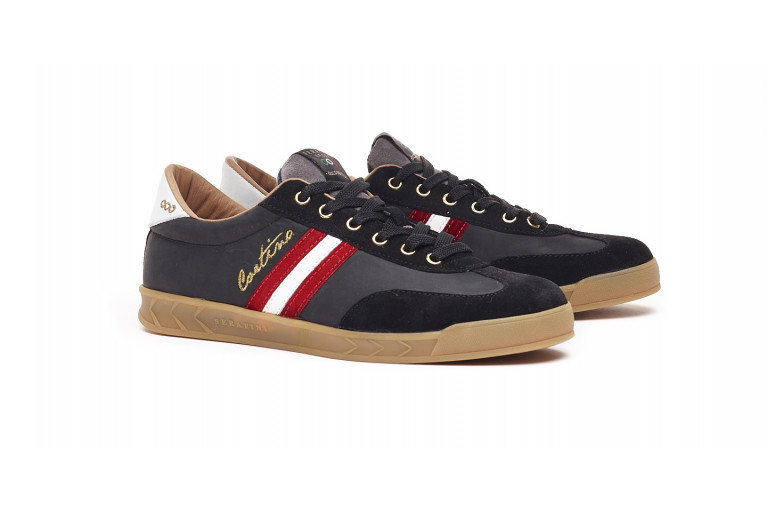 FLAT GOLD CORTINA - BLACK WITH EBROIDERY View 2