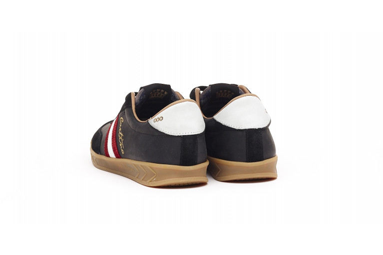 FLAT GOLD CORTINA - BLACK WITH EBROIDERY View 3