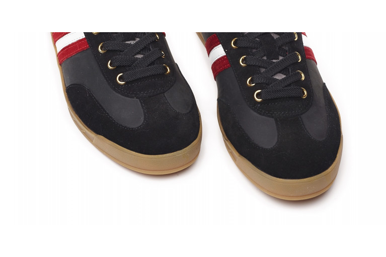 FLAT GOLD CORTINA - BLACK WITH EBROIDERY View 5