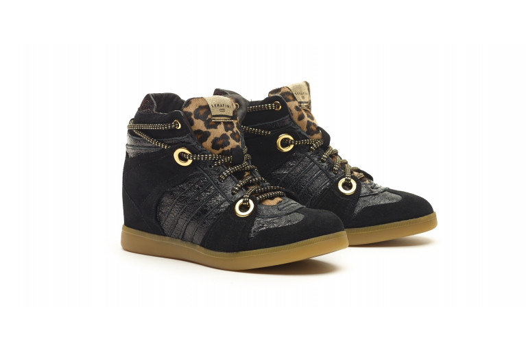 MANHATTAN - BLACK & LEOPARD HAIR CALF View 2
