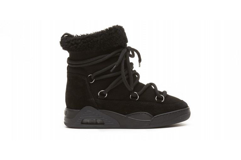 MOON ZV - BLACK ECOSHEARLING View 1