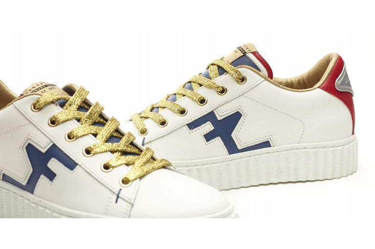 MADISON - DIRTY WHITE LEATHER & BLUE View 5