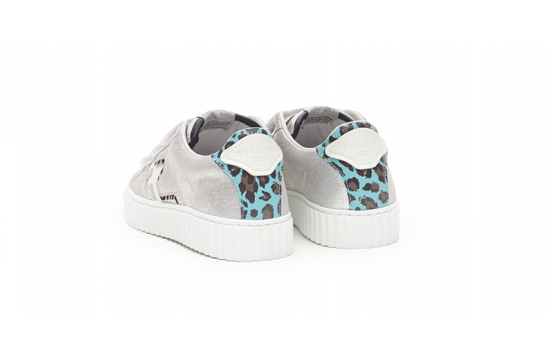MADISON - SILVER & LIGHT BLUE LEOPARD View 3