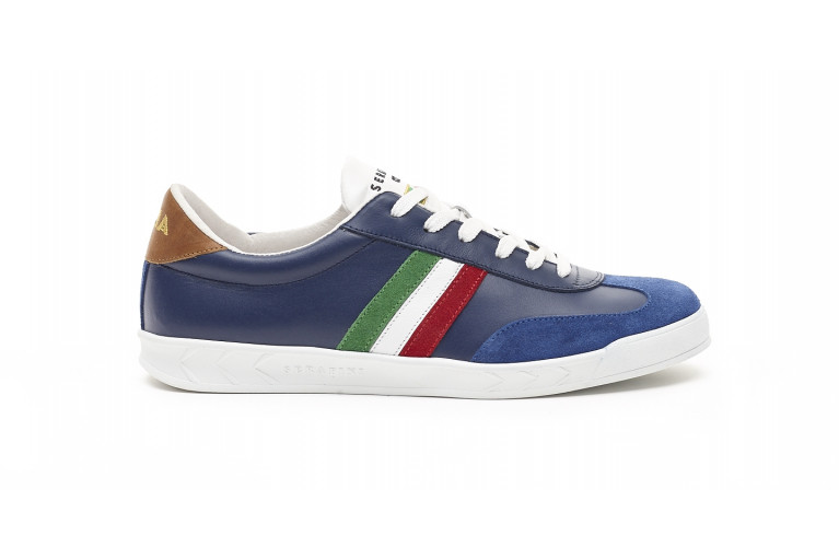 FLAT GOLD ITALIE - BLEU - WHITE SOLE View 1
