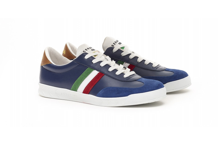FLAT GOLD ITALIE - BLEU - WHITE SOLE View 2