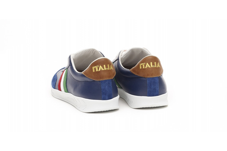 FLAT GOLD ITALIE - BLEU - WHITE SOLE View 3