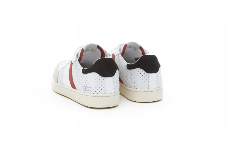 WIMBLEDON - PERFORATED WHITE & RED View 3