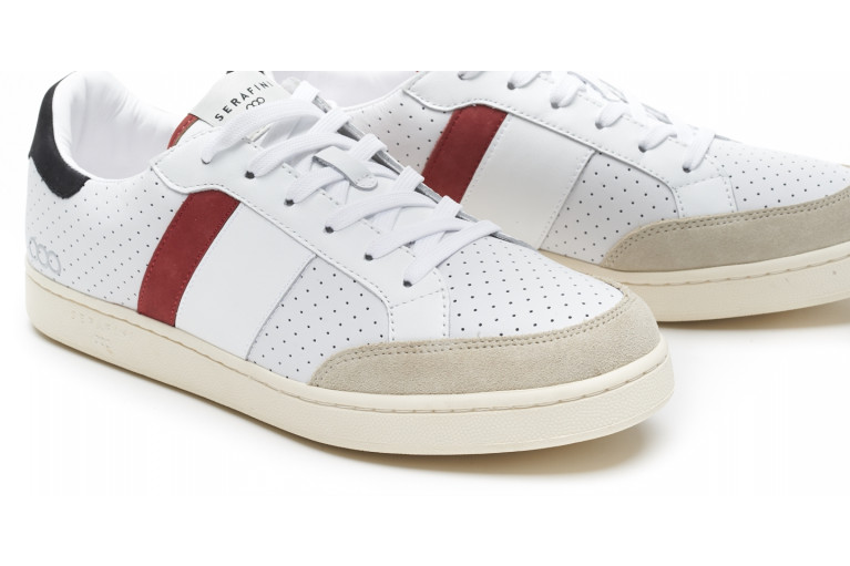 WIMBLEDON - PERFORATED WHITE & RED View 5