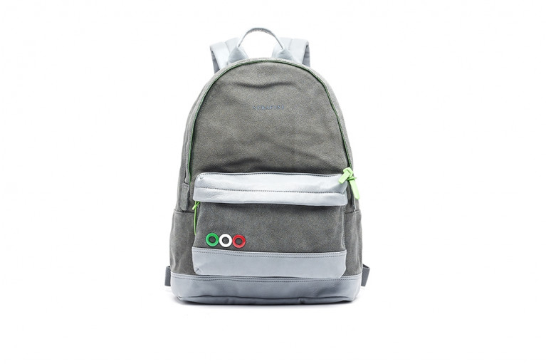 BACKPACK GREY SUEDE View 1