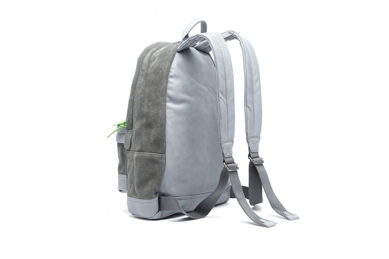 BACKPACK GREY SUEDE View 2