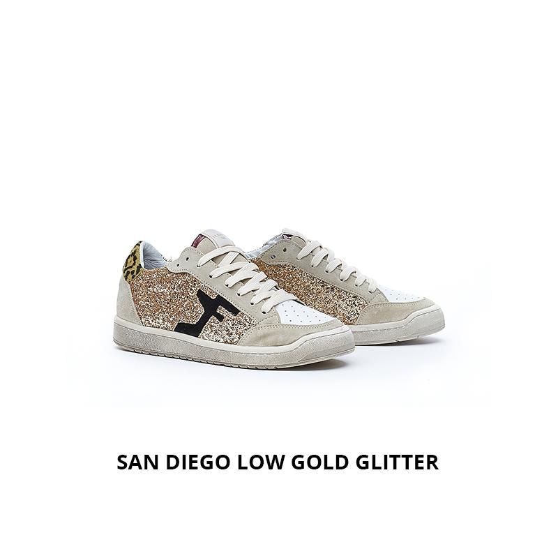 Serafini San Diego Low Gold glitter