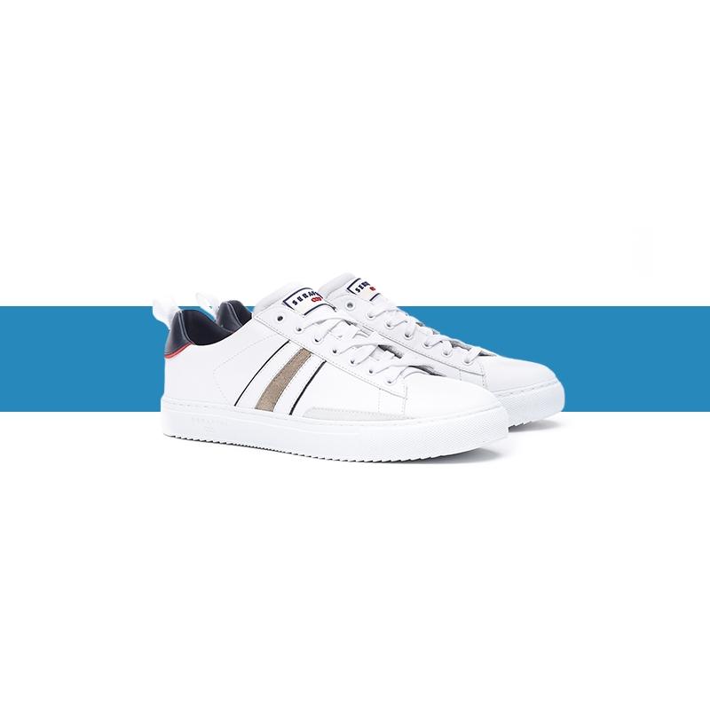 Serafini man's sneakers Roger white & blue