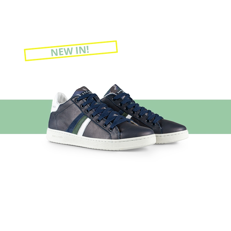 Serafini man's sneakers Borg Blue Camouflage