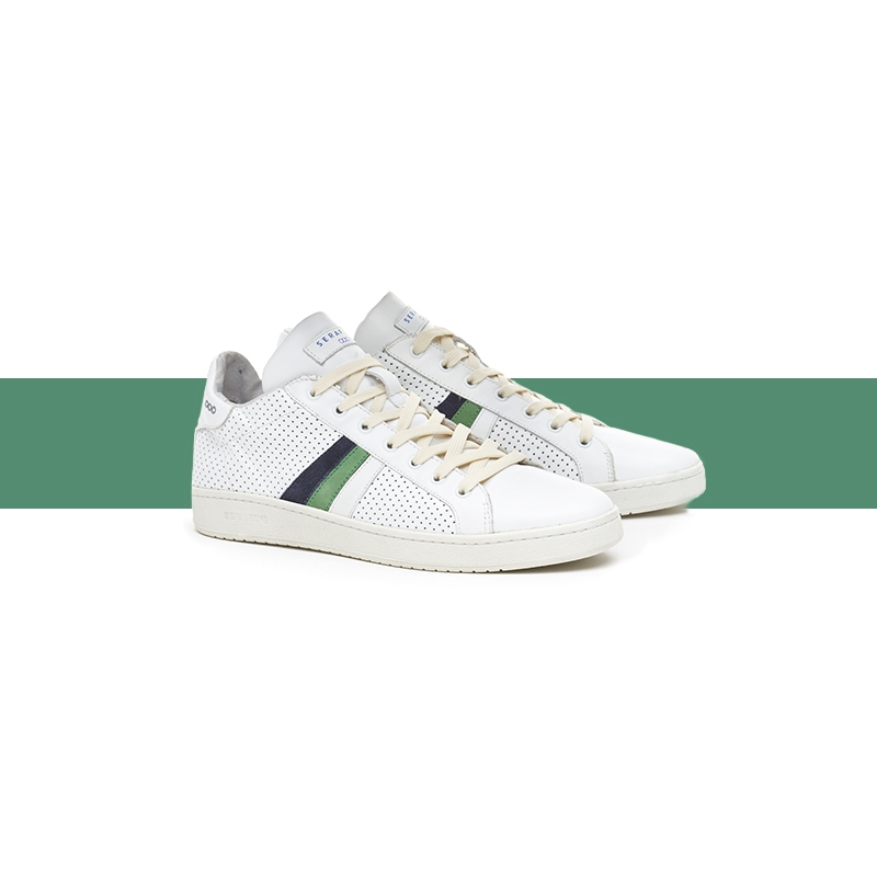 Sneakers Borg perforated white
