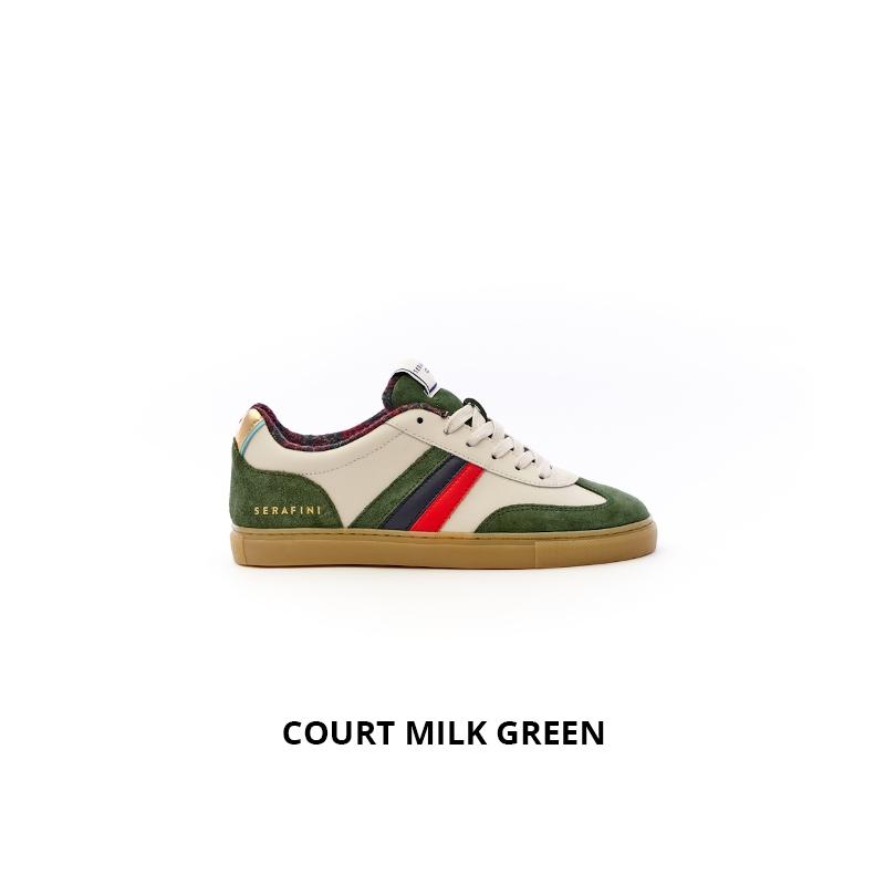 Serafini Court Milk Green