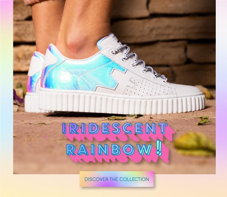 sneakers iridescent
